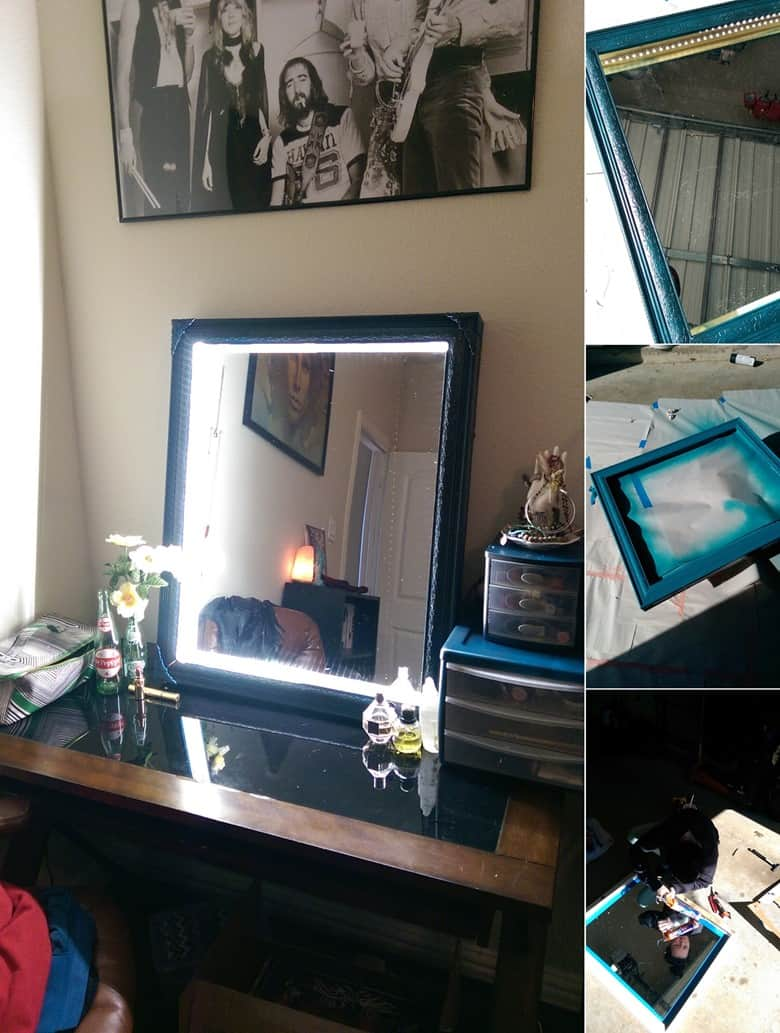 A Picture Frame Light Up Vanity Mirror