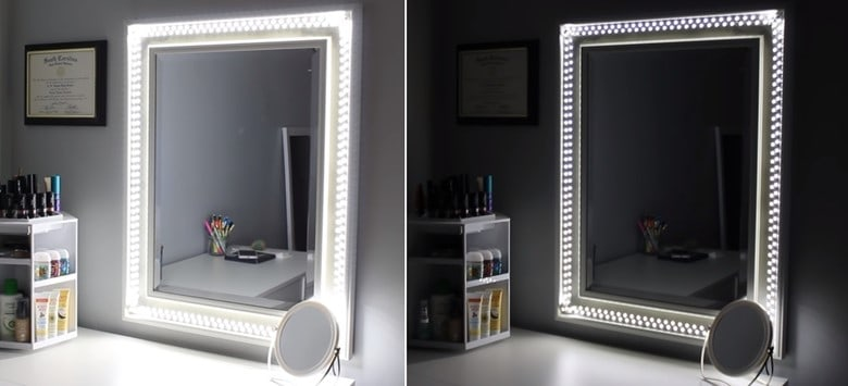 A $20 Vanity Mirror with LED Lights
