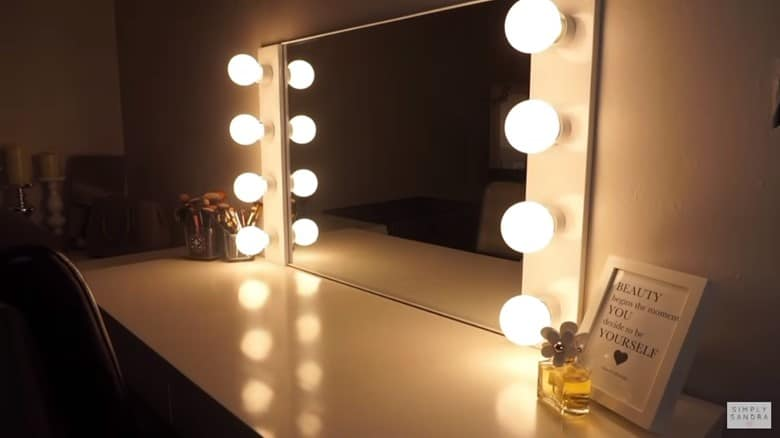 A Vanity Mirror with Lights for Under $100