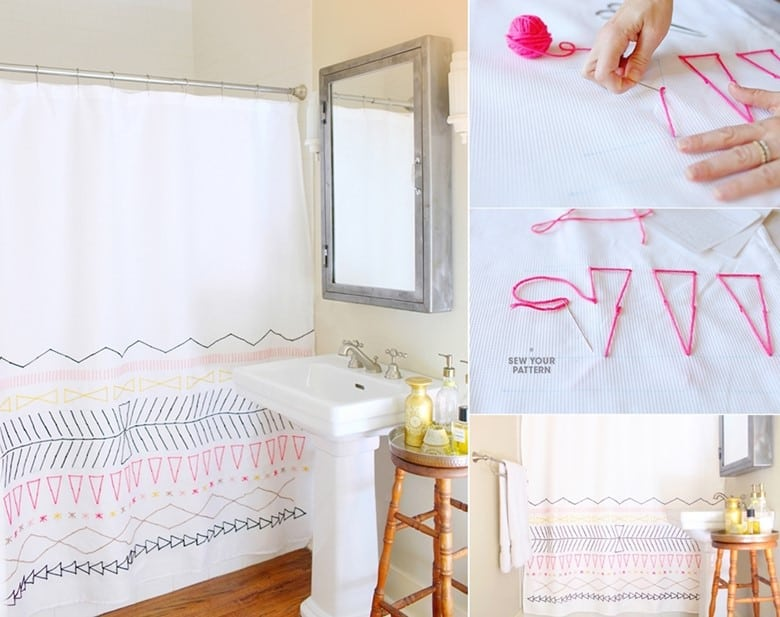 DIY Embroidered Curtains