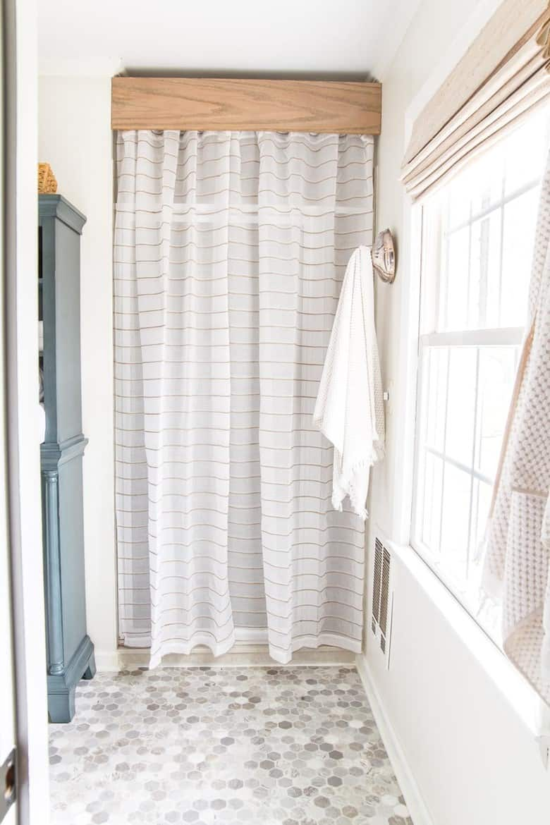 Curtains with a Wooden Cornice