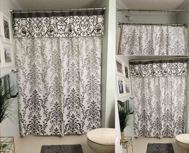 Shower Curtains with a No-Sew Valance