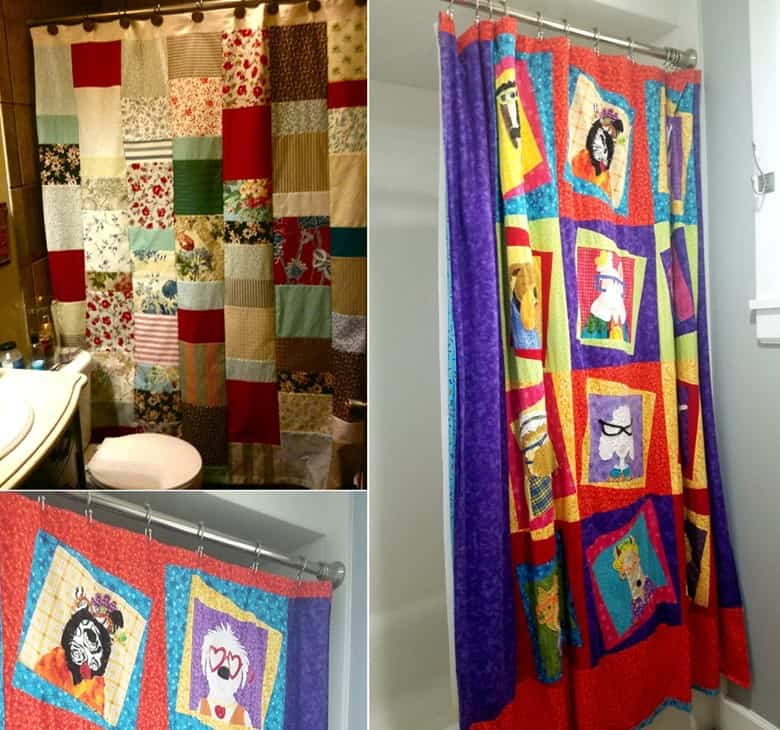 Quilted Patchwork Shower Curtains