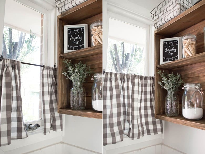 No-Sew Cafe Curtains from a Cushion Cover