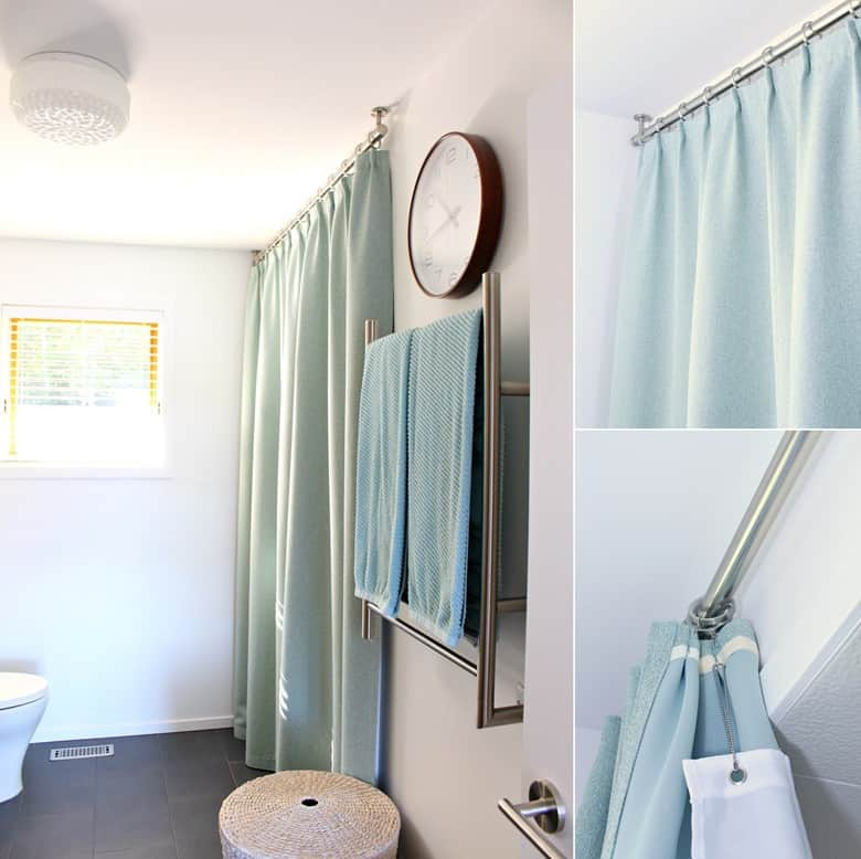 DIY Pleated Shower Curtains with Liners