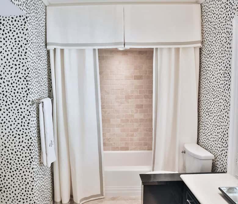 Bathtub Curtains with a Valance