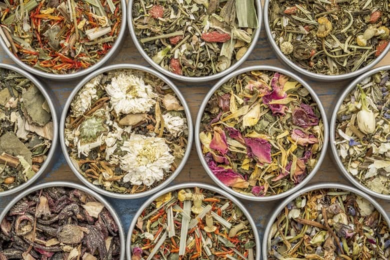 collection of ten herbal blend Chinese tea